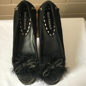 ENZO ANGIOLINI SUEDE LOAFERS SZ. 7.5